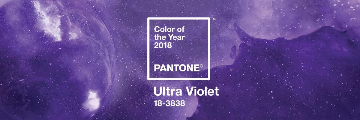 Il colore Pantone del 2018 è Ultra Violet